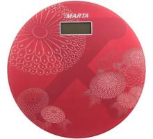 Весы MARTA MT-1662 напольные красный