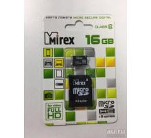 16Gb micro  SD+ адаптер Class10 Mirex