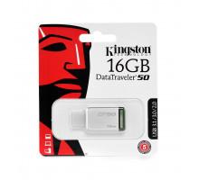 16GB USB Kingston DataTraveler 50 серебристо-зелен