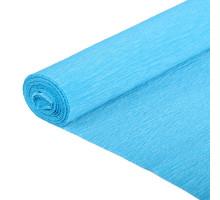Бумага гофрированная 50см*250см голубая 126534