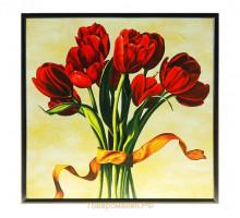 картина постер 24*24см тюльпаны с лентой