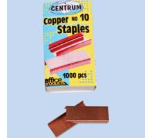 Скобы №24/6 CENTRUM 80613 медные в картоне