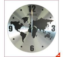 """Часы настенные """"Карта мира"""" 30см"""