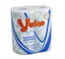 полотенца бумажные ВЕЙРО 2сл 2шт домашние белые