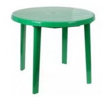 Стол круглый, размер 90*90*75 см, цвет зеленый