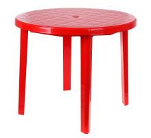 Стол круглый, размер 90*90*75 см, цвет красный