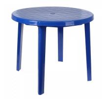 Стол круглый, размер 90*90*75 см, цвет синий