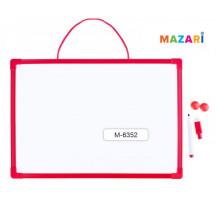 Доска магнитно-маркерная MAZARI 41*30см мелками