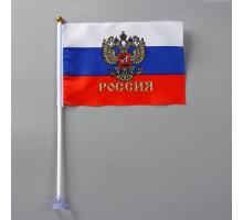 """Флаг наст.""""Россия"""" с гербом 3094"""