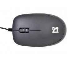 Мышь Defender Datum MM-010 проводная Black
