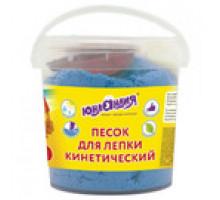 песок для лепки ЮНЛАНДИЯ 500г синий 104996