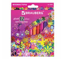 """Фломастеры 12 цв BRAUBERG """"Blooming"""" 150560"""