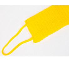 мочалка ШАХТЕРСКАЯ желтая с ручками
