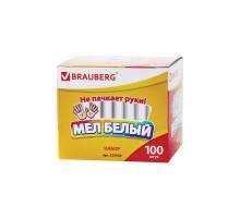 Мел белый Brauberg 1шт. кругл. 223550