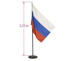 """Флаг """"Россия"""" 90*135см высота 2.25м 550007"""