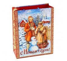 Пакет ламинат Снеговик 23х27 1052951 вертик.