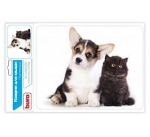 коврик BURO BU-M40095 котенок и щенок