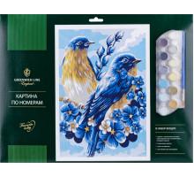"Картина по номерам А3 ""Весенние птицы "" 277678"