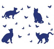 "Наклейка  А6""Бабочки"", ""Кошки"""