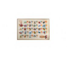 Коврик-подкладка наст.д/письма с алфавитом