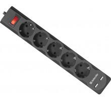 Сетевой фильтр Defender ES 3.0 3 метра черны