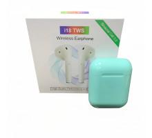Bluetooth наушники TWS i18 голубые