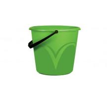 ведро 6л пластиковое без крышки зелененое ЦВП-6