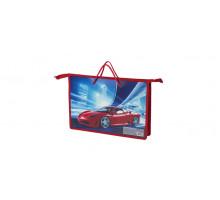 Папка на молнии с руч БРАУБЕРГ Красный авто 225501