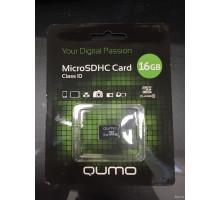 16Gb micro SD Qumo class10 без адаптера