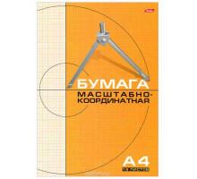 Бумага масштабно- координатная А4 16л. оранжевая н