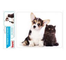 коврик BURO пластиковый, Котенок и щенок BU-M40095