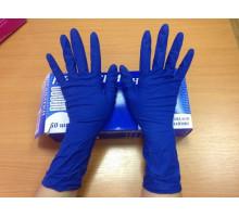 перчатки ГЛОВ ПРОФ1пара S резиновые плотные синие
