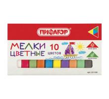 Мелки ПИФАГОР набор 10цветов 221168