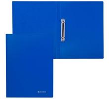 Папка 2 кольца 21мм BRAUBERG синяя 221611