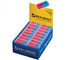 Ластик BRAUBERG Assistant80  кр-синяя 221034
