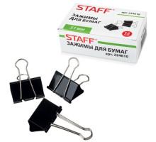 Зажим для бумаг STAFF 51мм чёрн. 224610
