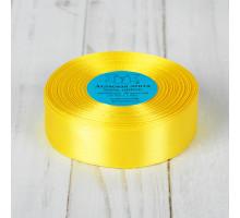 Лента атласная 25мм желтая 1183697