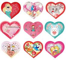0.8-70-14006 С днем Святого Валентина мини-открытк